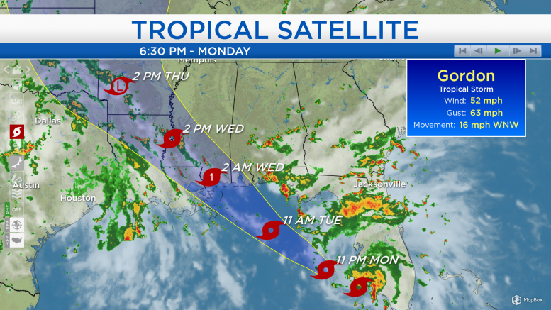 Will Tropical Storm Gordon Hit Houston?