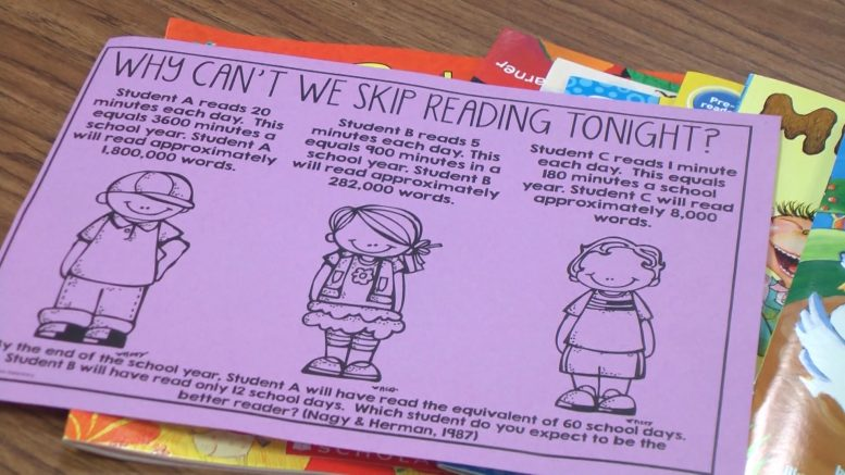 Hinks Elementary launches summer reading program to stop